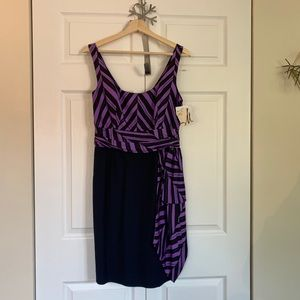 Milly Marcela Silk Combo Dress NWT 6